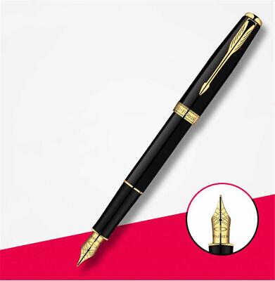 Excellent Urban Series Parker Pen Black//White Clip 0.5mm Medium Nib Fountain Pen