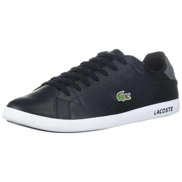997417158243 Lacoste Graduate Black Leather Mens Shoe Size 11 for sale online