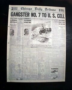 Collectibles Mobs, Gangsters & Criminals Prohibition 1930 Newspaper Chills And Pains Responsible Best Chicago Gangland Wars Al 'scarface' Capone Era
