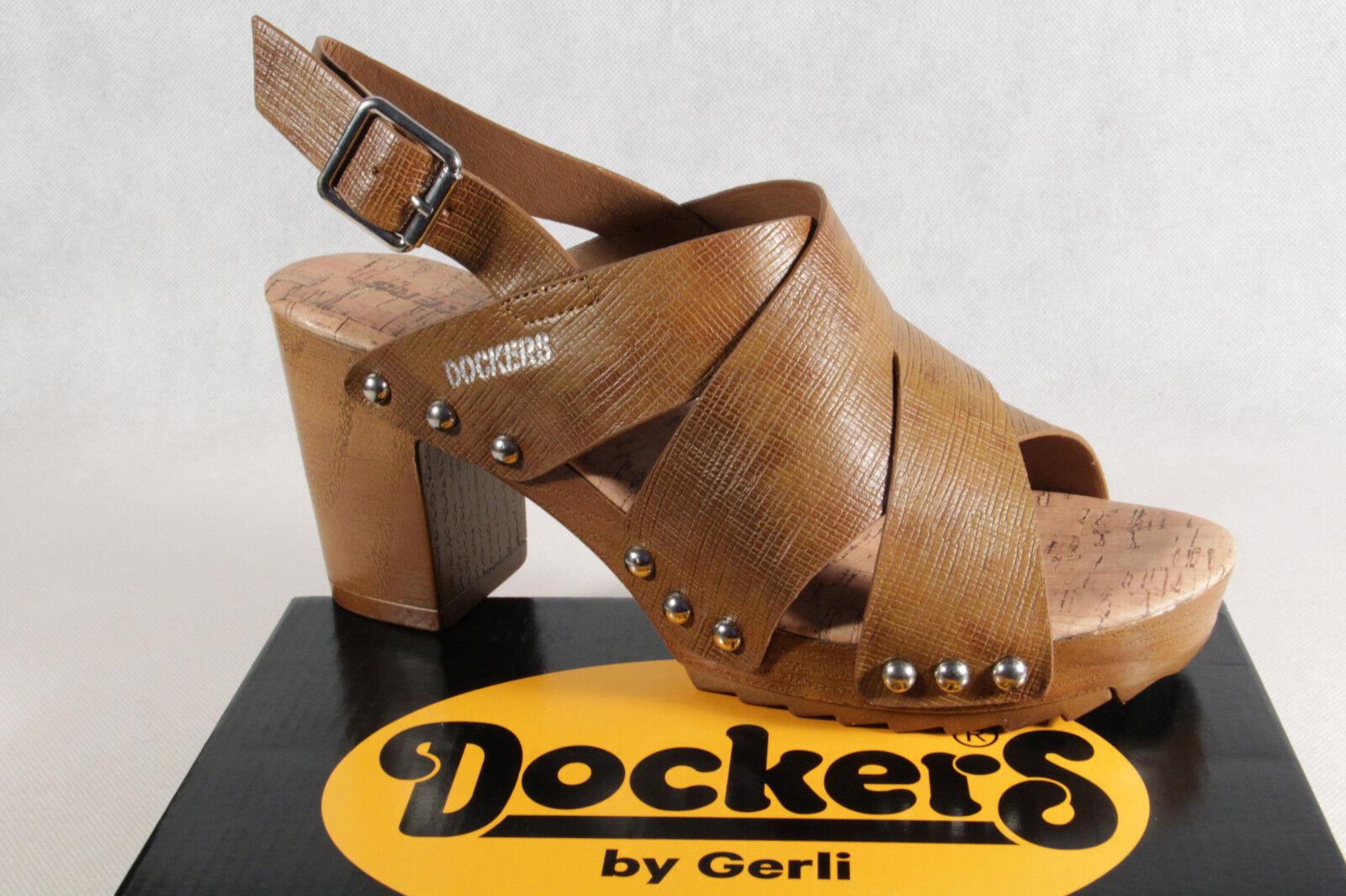 Dockers Sandalias de Dama, Sandalias Marrón Nuevo