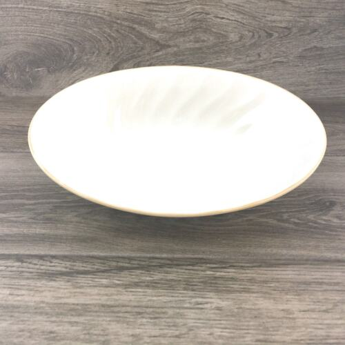 VTG Sculptura Hearthside Simplicity Stoneware Vegetable Bowl Oval Ivory & Tan