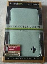 Simplism Microfiber sleeve For iPhone 4- Blue (1st class p+p)