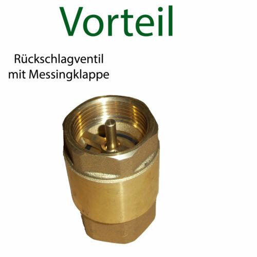 "Saugschlauch Rückschlagventil m Fußventil 1 1//4/"" Zoll VA Saugkorb Gartenpumpe"