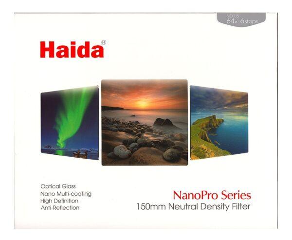 2019 Nouveau Style Haida Nanopro 150 Mm Densité Neutre Nd64 Nd 1.8 Filtre Verre 150 6 Stop