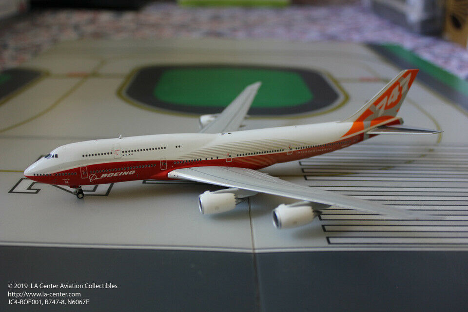JC Wing Boeing 747-8 Intercontinental House color Sunrise Diecast Model 1 400
