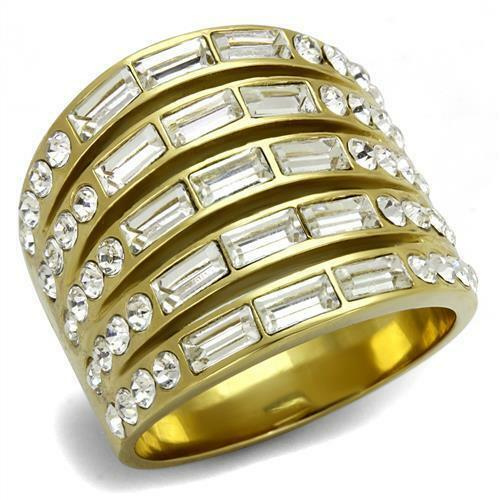 Classy Top Grade Crystal Cocktail Fashion Accented Women Ring 5 - 10 TK2362