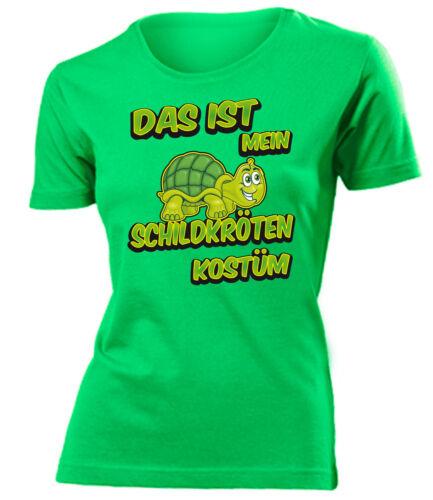 CARNEVALE-CARNEVALE-questo è il mio costume TARTARUGHE T-Shirt Donna S-XXL