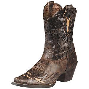 Original Frye Frye Billy Short Women Leather Black Western Boot Boots