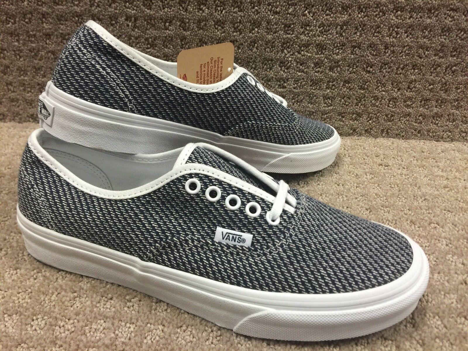 Vans Men's shoes Authentic Slim -- (Jersey) Navy True White