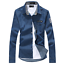 Men-039-s-New-Casual-Stylish-Jean-Denim-Slim-Fit-Long-Sleeve-Shirt-3-Colors-010 thumbnail 9