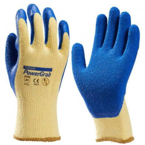 7-10 Latexbeschichtung Towa Strickhandschuh PowerGrab natur//blau Gr