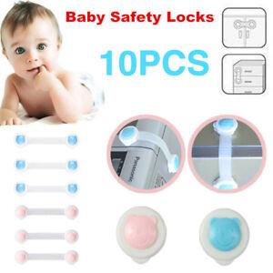 10x enfant b b adh sive fermeture bloque serrure de s curit porte tiroir fr ebay - Bloque tiroir securite bebe ...