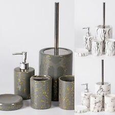 Bad Accessoires 3 Teiliges Set Relief White Von Wenko Wc Burstengarnitur Seife Ebay