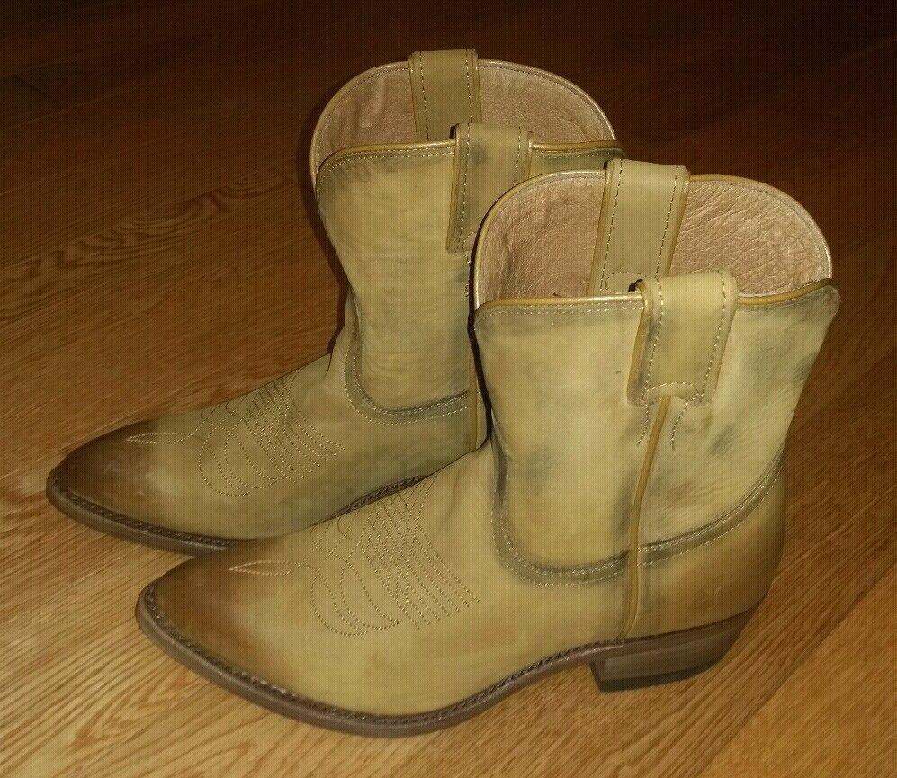 Frye Billy Short à effet vieilli cuir bottes western femme 7 US COGNAC 288