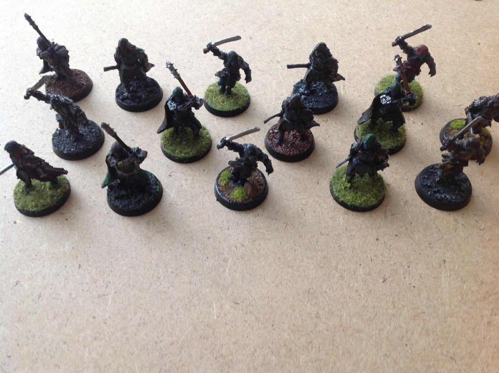 LOTR 15 Metal Painted Mordor Urak Hai from Cirith Ungul
