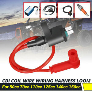 Wiring Loom Switch Coil CDI Kit For 50/70/110 125cc140cc 150cc Pit Dirt Bike ATV