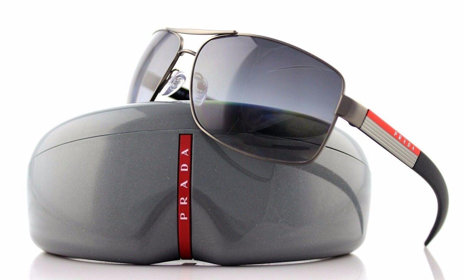 37afe6516ee1 PRADA Linea ROSSA Sunglasses Gunmetal Polarized Grey Gradient Lens ...