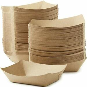 3 Lb Kraft Brown Paper Food Trays Recyclable & Compostable by Avant Grub