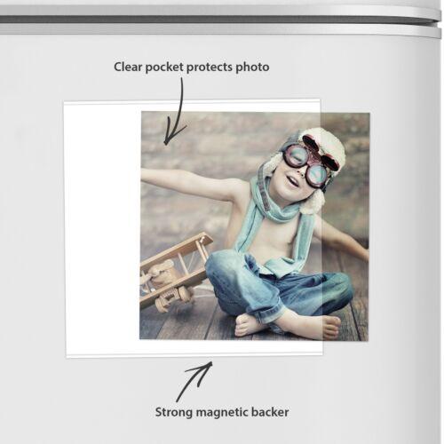 "Pack of 2 Shot2go magnetic photo fridge frame pockets square instagram 5x5/"" 2190"