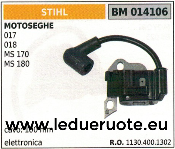 11304001302 BOBINA ELETTRONICA centralina MOTOSEGA STIHL 017 018 MS 170 180
