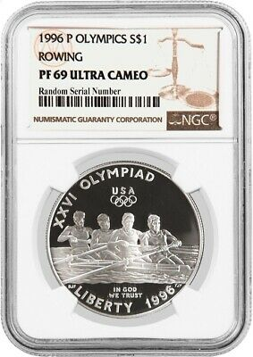 Cycling Commem Proof Silver Dollar NGC PF69 UCAM 1995-P US Atlanta Olympic