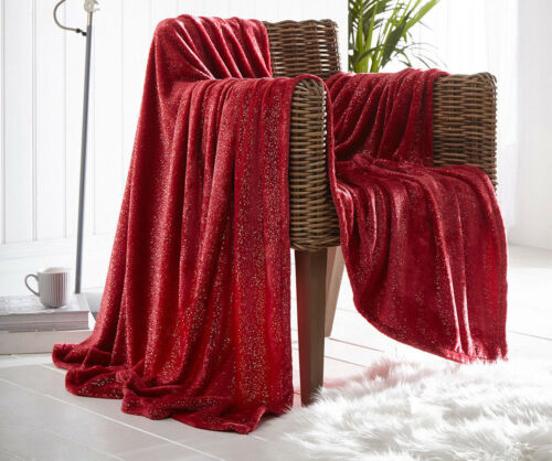Luxury Throws Single Double Size polaire chaud 2 Seater utilisantun canapé Bed Sparkle