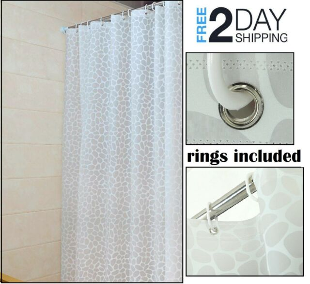 Small Plastic Shower Curtain Mold Mildew Resistant Corner Rv Bath Liner Men Girl For Sale Online