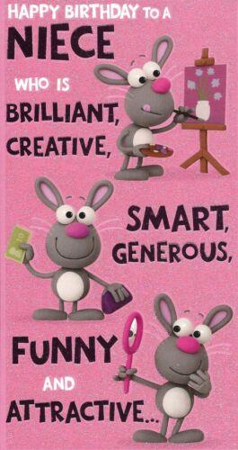 Happy Birthday To A Niece Humorous Birthday Card