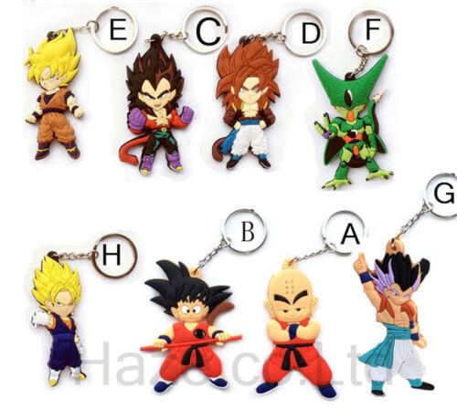Animation Dragon Ball Double Côté Cosplay Keychain Key Bracelet AAA