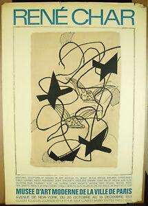 Affiche De 1971 Adrien Maeght Musée D'art Moderne Paris René Char Georges Braque