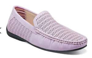 Stacy Adams shoes Cicero Perfed Moc Toe Slip On Casual Lavender 25172-530
