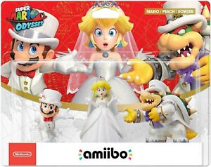 super mario odyssey amiibo 3 pack wedding outfit mario peach and
