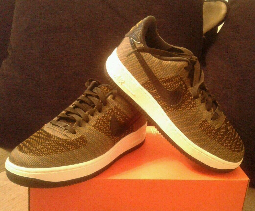 Nuevo Nike Air Force 1 07 kjcrd Mujer Unisex Zapatillas tamaño de Reino Unido 5.5 Negro Bronce