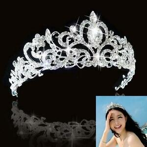 Bridal Bridesmaid Wedding Prom Crystal Rhinestone Diaman Crown Tiara Headband UP
