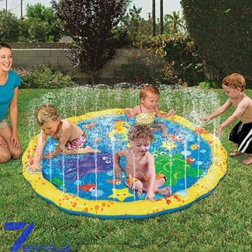 Outdoor Water Play Mat Sprinkler Kids Toy Activity Toddlers Baby Pool Fun New T4