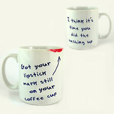 LIPSTICK MARK STILL ON YOUR COFFEE CUP MUG TAKE THAT GARY BARLOW BACK FOR GOOD