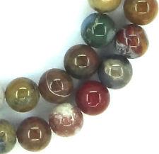 "15"" NATURAL Mixed Colors Ocean Jasper Round ~50 Beads 8mm K2775"