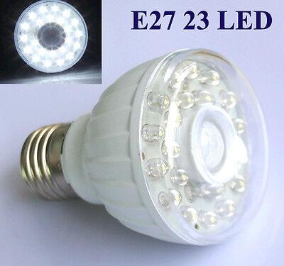 2x E27 23 LED Nachtlicht Lampe Bewegungsmelder Sensor Weiß 230V AC