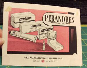 Vintage Card Ciba Phamaceutical Products Inc Perandren & Washington Hospital PA