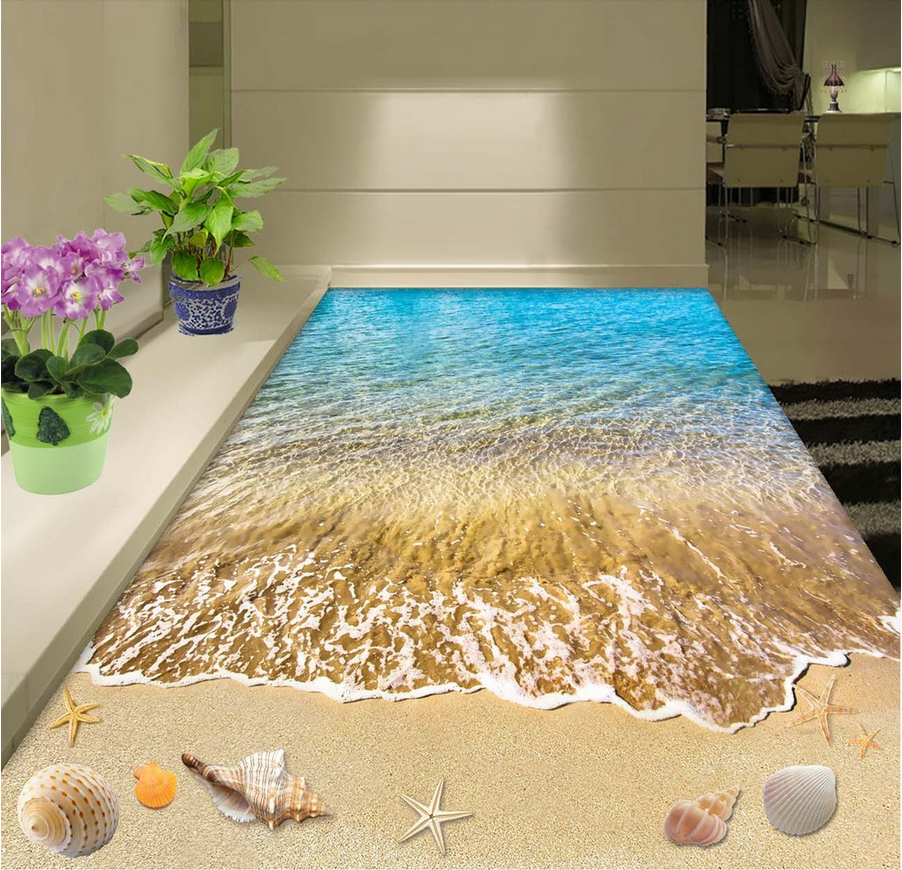 3D Beach Shell Dolphin 7 Floor WallPaper Murals Wall Print Decal AJ WALLPAPER US