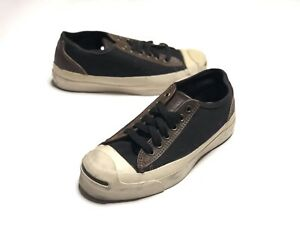 3f2f1938dd70 80 s Vintage Converse Jack Purcell Black Brown Made in USA Size 4.5 ...