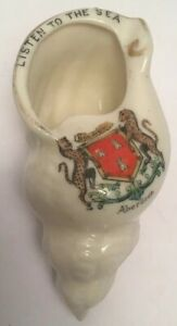 Vintage-Crested-China-Aberdeen-Shell-Listen-To-The-Sea
