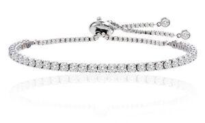 Adjustable Tennis Bracelet Made with Swarovski Elements by Nina ...