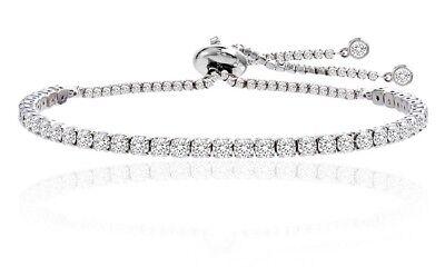 Adjustable Tennis Bracelet Made with Swarovski Elements by Nina & Grace  190094228067 | eBay