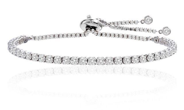 Adjule Tennis Bracelet Made With Swarovski Elements By Nina Grace