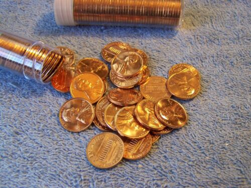 Roll 1972-D US Mint Set Uncirculated Lincoln Cents 1 Cents cut from mint sets