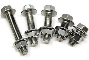 M5 M6 M8 M10 A2 STAINLESS HEXAGONAL FLANGE BOLTS WITH FREE SERRATED FLANGED NUTS