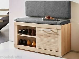 tim sitzbank garderobenbank diele flur bank schuhschrank buche inkl sitzkissen ebay. Black Bedroom Furniture Sets. Home Design Ideas