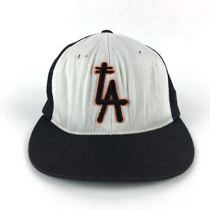 Image is loading Vintage-Stussy-Headgear-L-A-XXV-FlexFit-Hat-Size- 48c8e6e7649