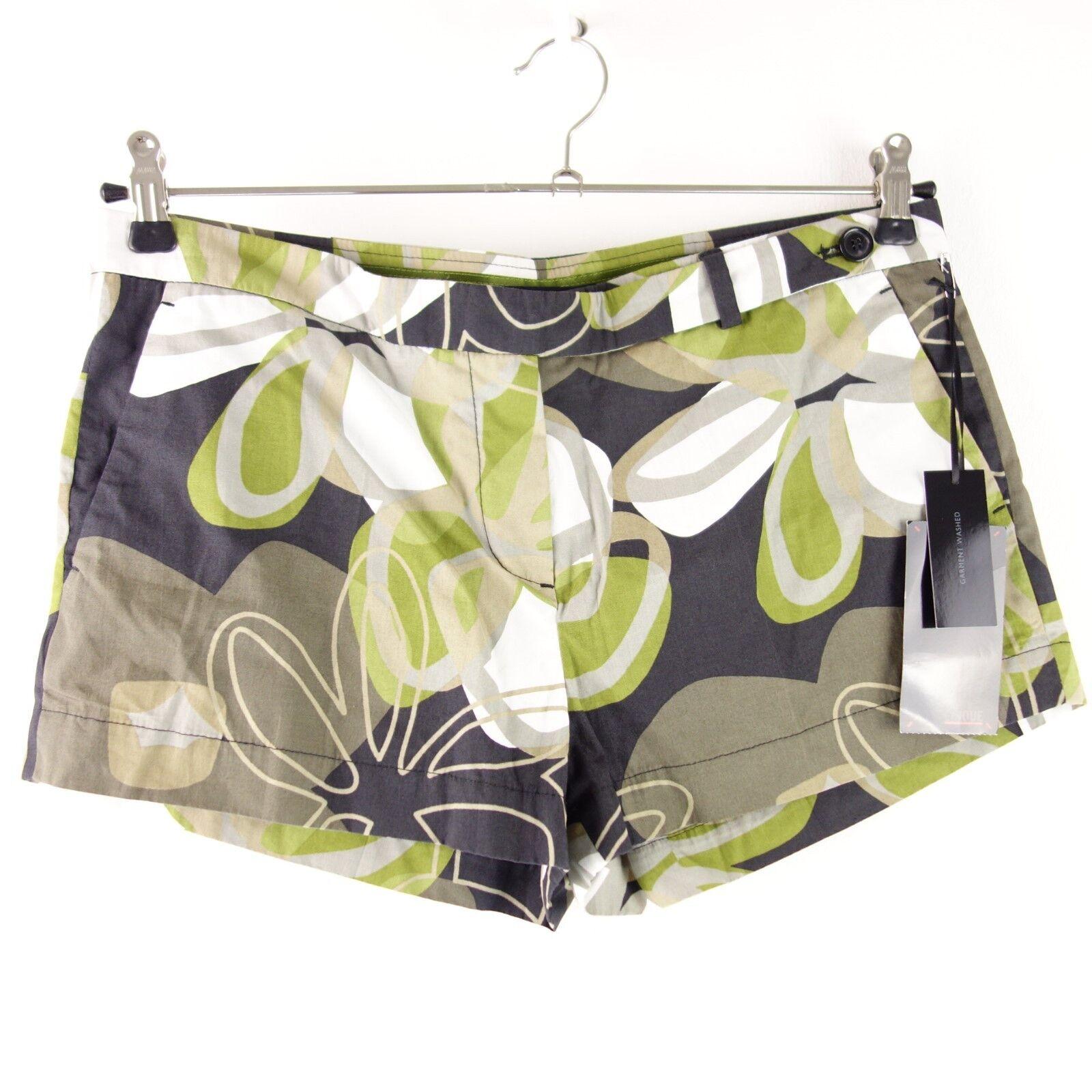 Cinque Damen Shorts Hot Pants Eppen Gr 38 Grün Kurze Hose Schurwolle Np 79 Neu
